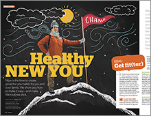 Healthy New You cover feature